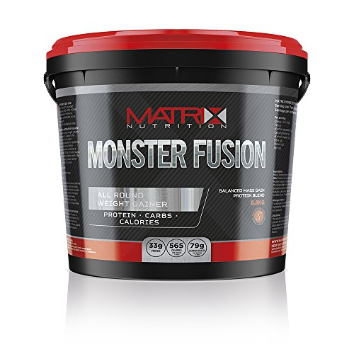 Matrix Nutrition Monster Fusion 6.8KG is an all-round weight gainer designed to support the intake of all the main nutrients required for packing on muscle mass. (Chocolate Cookies) by Matrix Nutritio by Matrix Nutrition