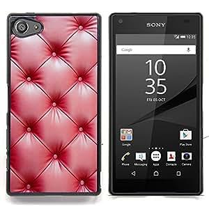 For Sony Xperia Z5 compact / mini - red leather wrinkle shiny /Modelo de la piel protectora de la cubierta del caso/ - Super Marley Shop -