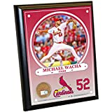 """MLB St. Louis Cardinals Michael Wacha Plaque with Game Used Dirt from Busch Stadium, 8"""" x 10"""", Navy"""