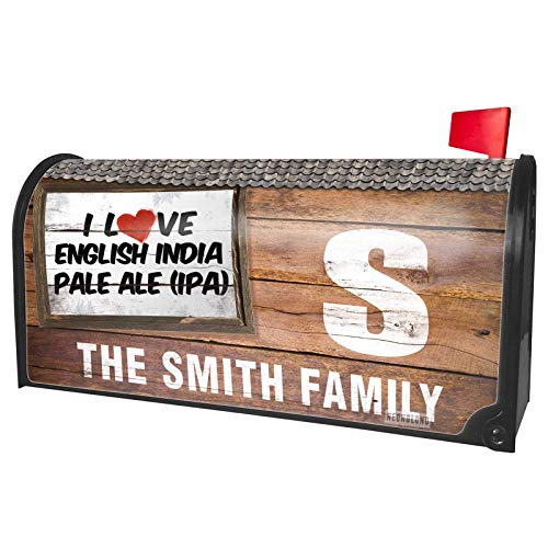 NEONBLOND Custom Mailbox Cover I Love English India Pale Ale (IPA) Beer