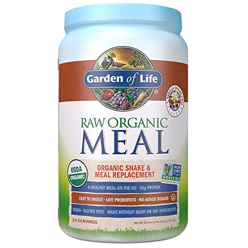 Garden of Life Raw Organic Meal Replacement Powder – Vanilla Chai, 28 Servings, 20g Plant Based Protein Powder…