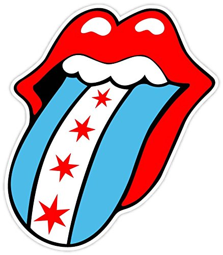 Chicago Sticker (Rolling Stones Chicago Flag Fan 4