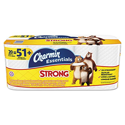 Price comparison product image Product of Charmin Essentials Strong Bathroom Tissue, 1-Ply, (300 sheets per roll, 20 rolls per pack) - Toilet Paper [Bulk Savings]