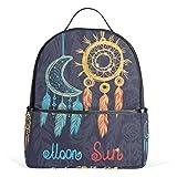 LORVIES Dream Catchers Ethnic Tribal Elements Lightweight Canvas Kids School Backpack Book Bag for boys girls