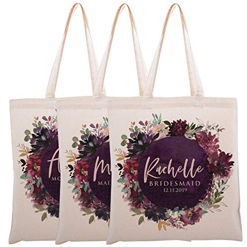 Personalized Tote Bag For Bridesmaids Wedding Customized Bachelorette Party Bag
