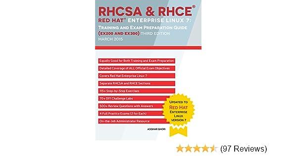 Amazon com: RHCSA & RHCE Red Hat Enterprise Linux 7: Training and