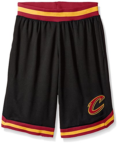 fan products of NBA Men's Cleveland Cavaliers Mesh Basketball Shorts Woven Active Basic, XX-Large, Black