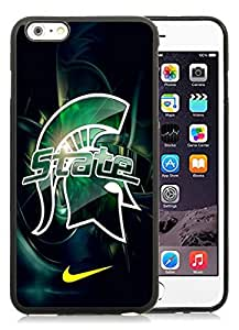 Beautiful Designed Case With Michigan State Spartans 01 Black For iPhone 6 Plus 5.5 Inch TPU Phone Case