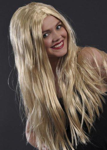 Ladies Long Straight Blonde Fancy Dress Wig (Womens Fancy Dress Wigs)