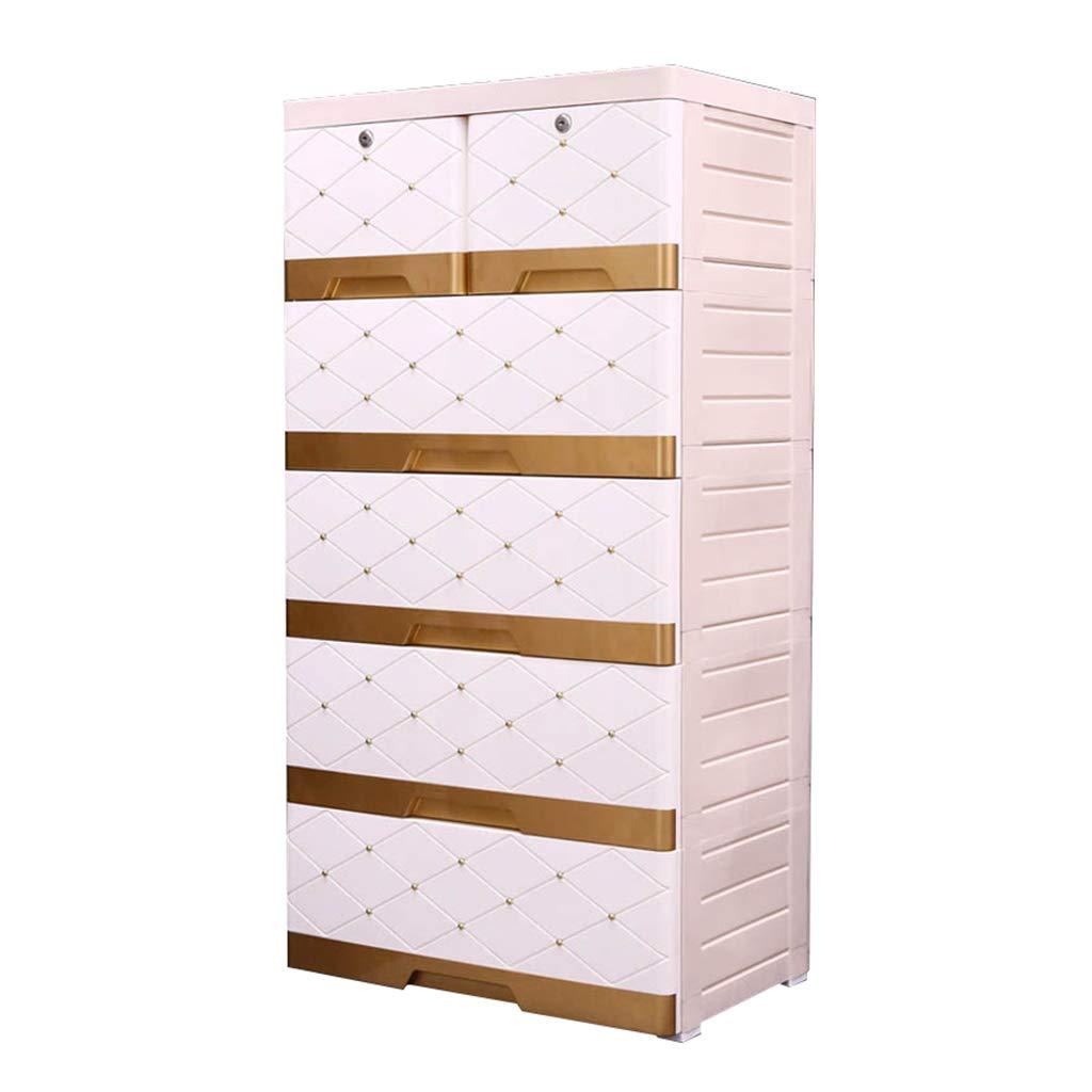 Durevole Scatola portaoggetti in lattice, ampio soggiorno in stile europeo, cinque piani, armadio a cassetti, guardaroba per neonati, 113-132 cm multifunzione ( colore   D , dimensioni   6644132CM )