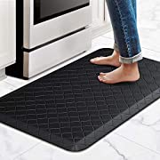 #LightningDeal HappyTrends Kitchen Mat Cushioned Anti-Fatigue Kitchen Rug,Waterproof Non-Slip Kitchen Mats and Rugs Heavy Duty PVC Ergonomic Comfort Rug for Kitchen,Floor,Office,Sink,Laundry