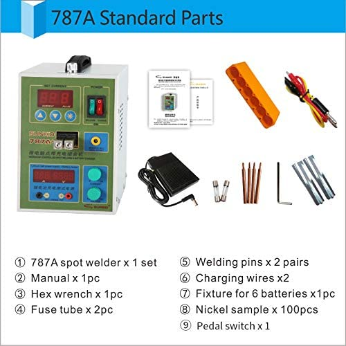 SUNKKO 220V 787A Spot Welder Battery Welder Applicable Notebook and Phone Battery Precision Welding Pedal Recharge Charging Capability Charger