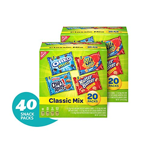 (Nabisco Classic Cookie & Cracker Variety Packs - 40 Individual Snack Packs)