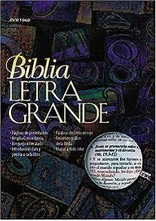 Biblia letra grande (Spanish Edition) by RVR 1960- Reina Valera 1960 (1998