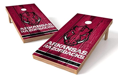 2' x 4' Arkansas Razorbacks Cornhole Board Set - Vintage (Arkansas Games)