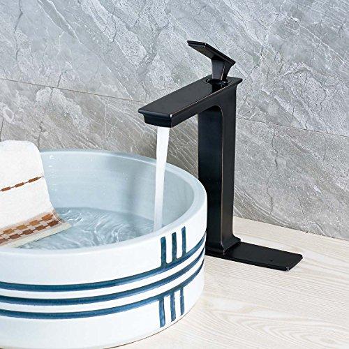 Votamuta Bathroom Faucet Oil Rubbed Bronze Single Handle Lavatory Vessel  Sink Faucet One Hole Brass Contemporary