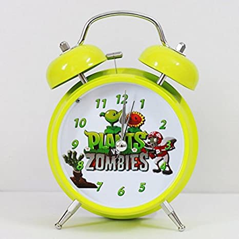 Zombies animación Student Reloj dibujos animados creativos Stille Campana de metal noche luces