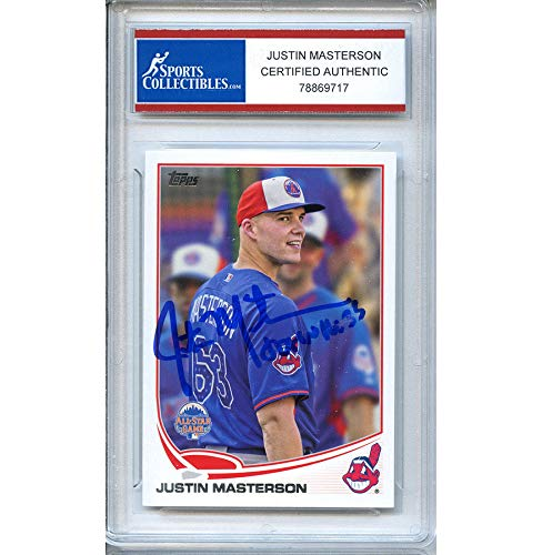 - Justin Masterson Autographed Signed 2013 Topps Trading Card - Certified Authentic
