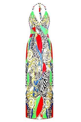 G2 Chic Women's Bohemian Summer Maxi Dress(DRS-MAX,MULA1-L)