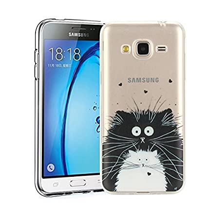 Funda Samsung Galaxy J3 2016 SM-J320F Silingsan Funda de Silicona TPU para Samsung Galaxy J3 2016 SM-J320F Carcasa Transparente Soft Clear Case Cover ...