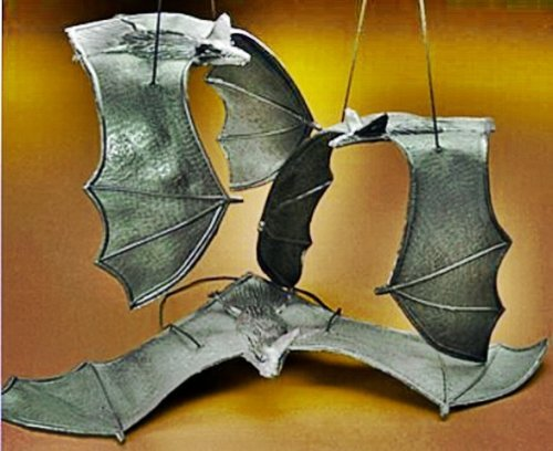 (happy deals 6 Rubber Hanging Bats on Strings - 13)
