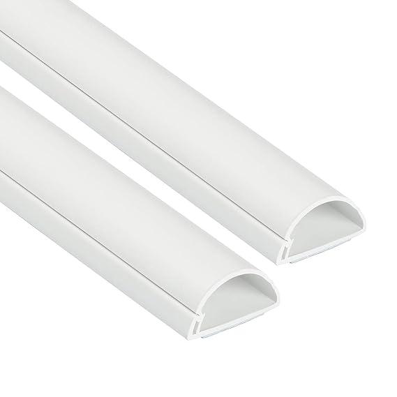 D-Line 30x15mm Moulure Décorative en Demi-Cercle |1D3015W-2PK | Goulotte Électrique | Cache-Câble | 2 x 1m Longeurs, Blanc