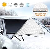 isimsus Windscreen Cover, Winter Cover, Car Windscreen Cover, Frost Cover, Magnet, Foldable, Removable, Frost Protection Film, Front Screen Cover, Winter Protection, for Winter (183 x 116 cm)