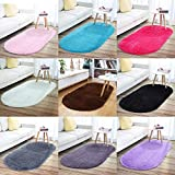 junovo Oval Fluffy Ultra Soft Area Rugs for Bedroom
