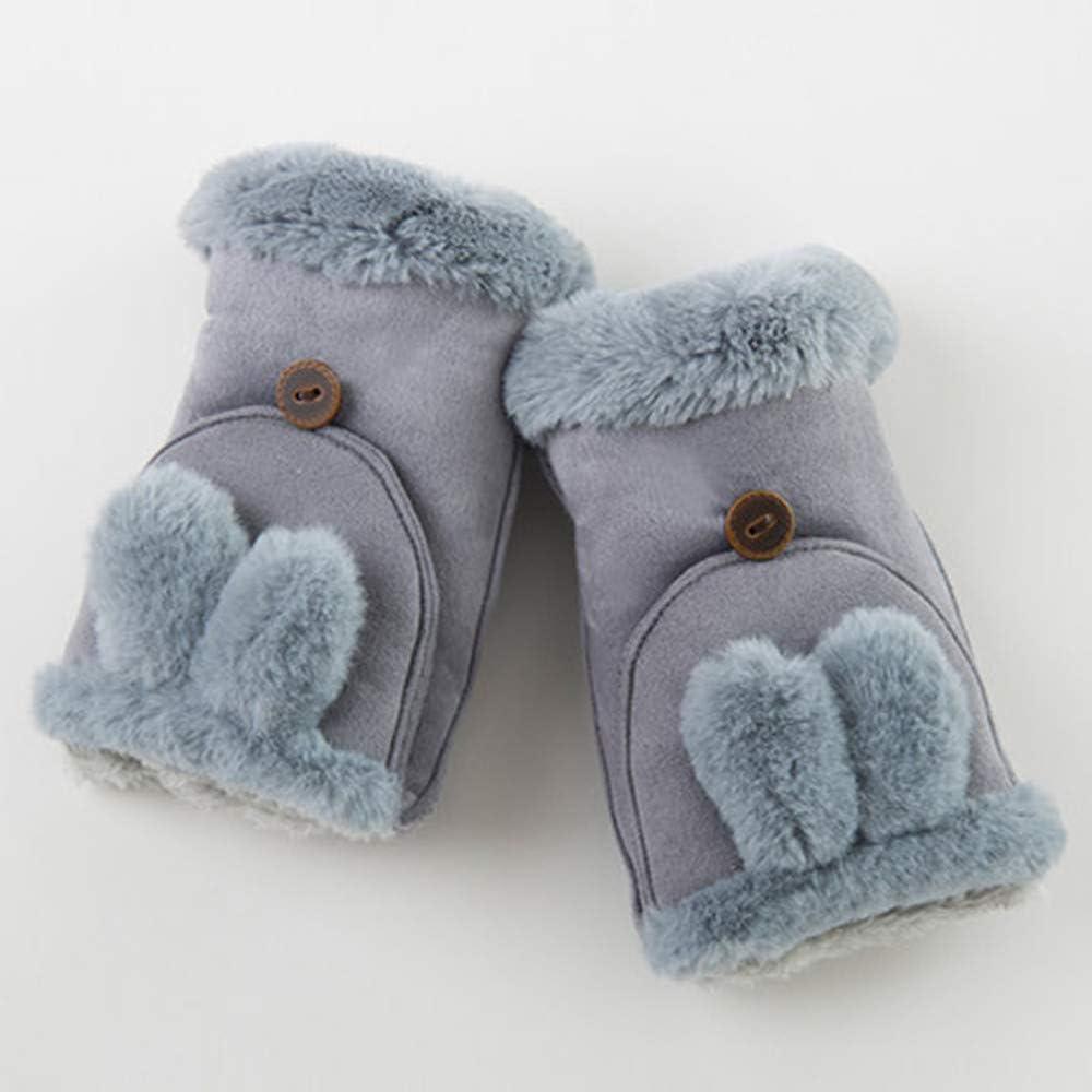 Winter Warm Gloves Half...