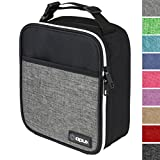 OPUX Premium Thermal Insulated Mini Lunch Bag | School Lunch Box For Boys, Girls, Kids, Adults | Soft Leakproof Liner | Compact Lunch Pail for Office (Heather Gray)