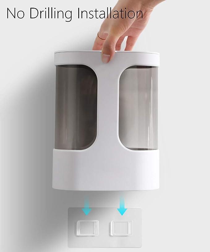 Kohyum Dispensador de Vasos Desechables de Doble hilera Estante para Vasos de Pared para portavasos de Papel