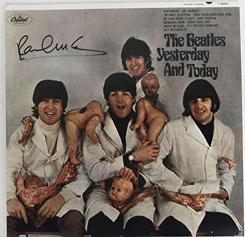 The Beatles Paul McCartney Signed Autographed Butcher Cover Album Beckett BAS - Beckett Authentication