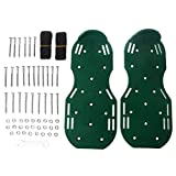 CUTEQ 1 Pair Scarification Shoes Garden Yard Grass Cultivator Scarification Lawn Aerator Nail Shoes Tool