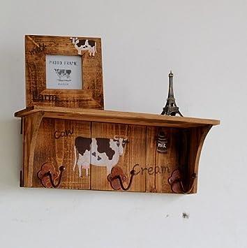 Creative leche vaca 3 gancho estante - Estantería de pared ...