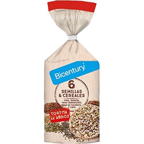 BICENTURY tortitas de arroz 6 semillas y cereales bolsa 111 ...