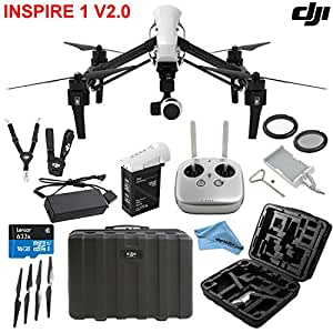 DJI Inspire 1 V2.0 Bundle with TB47 Intelligent Flight Battery, Remote Harness, 16GB MicroSD Card and more...