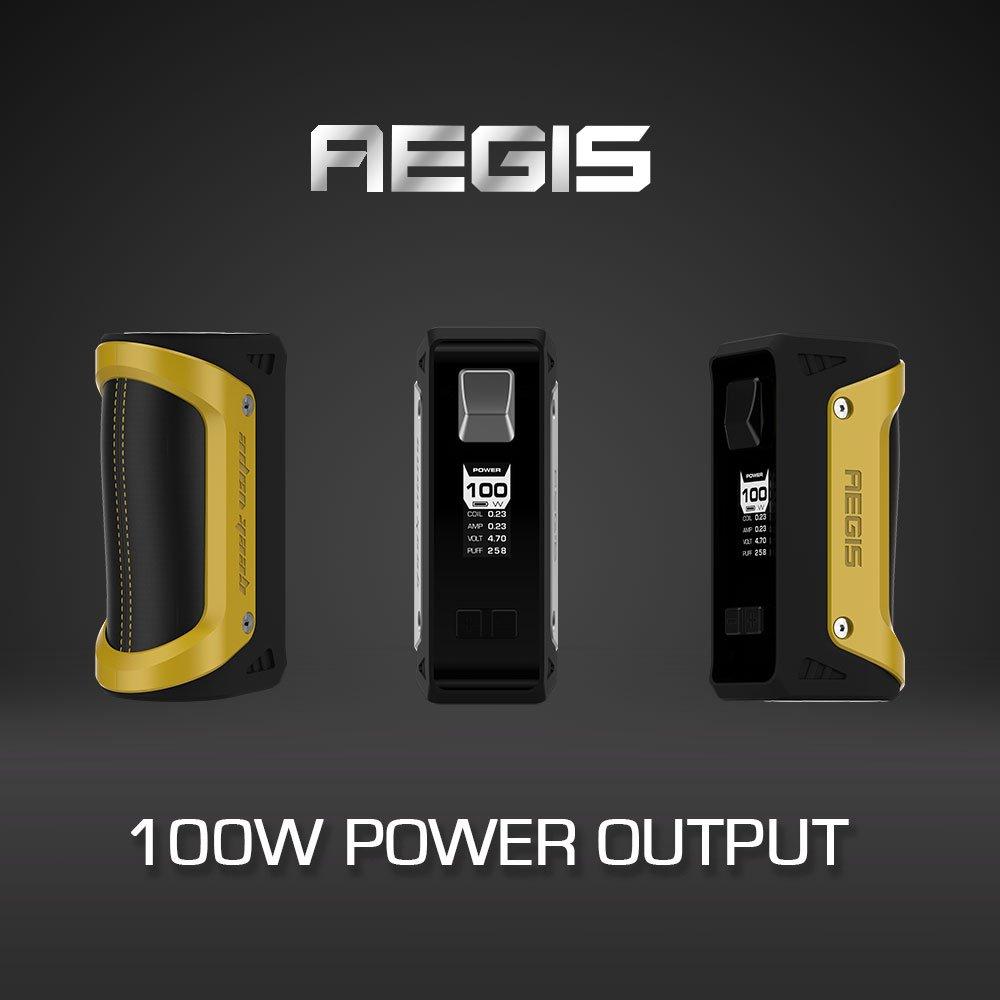 GeekVape Aegis 100W Legendario TC Box Mod, E Cigarrillo Mod, Impermeable, a Prueba de Choques, a Prueba de Polvo E Cig Vape Mod, no E líquido, ...