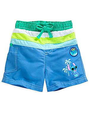 Stitch UV Protection Swim Trunks for Baby Boy
