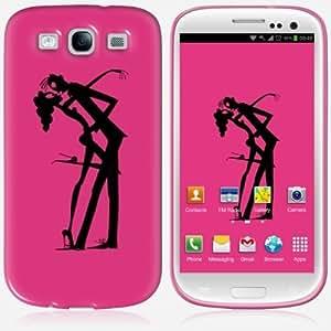 Galaxy S3 case - Skinkin - Original Design : Hot pink by Carlotta