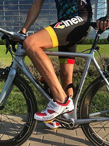 TriSeven Premium Nylon Triathlon Cycling Shoes   Lightweight, Unisex & Fiberglass Sole (37) by TriSeven (Image #3)