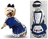 Quality Dog Dress Costume-Wonderland Card Suits Blue Petticoat Lace