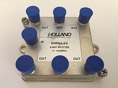 Solderback Splitter - Splitter IPTV RF Broadband 6-Way HomePNA Tested & Certified for applications on U-Verse Networks