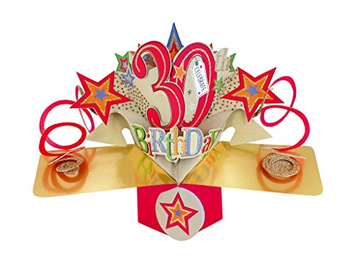 Happy 30th Birthday Pop-Up Greeting Card Second Nature 3D Pop Up Cards