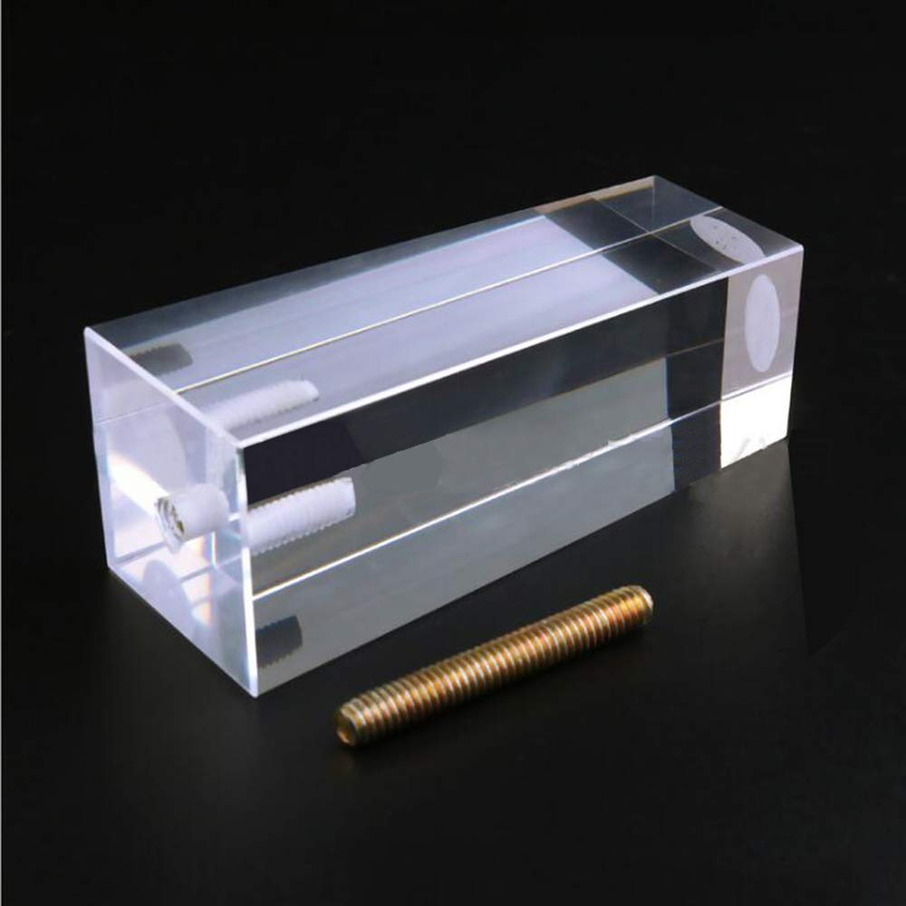50 /× 100//50 /× 120 mm 4 /× Quadrato Acrilico Trasparente Divano Piede Gambe Gambe in plexiglass Accessori per mobili tavolino Mobile Supporto di Ricambio carico Gamba 1000 kg