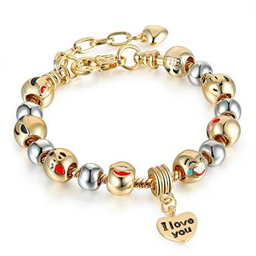 Cute Emoji Charm Bracelet...