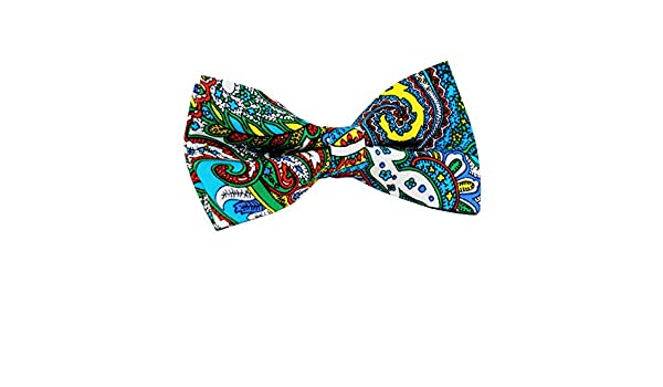 ST34 Brand New Multi-color Colorful Paisley Tuxedo Bow tie For BOYS BB-1164