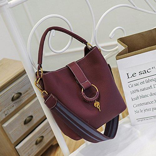 Frauen Mode Kontrast Farbe Umhängetasche Anhänger Anhänger Handtasche Direkte Versorgung , Weinrot