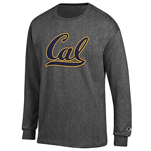 Elite Fan California Golden Bears Mens Long Sleeve Icon Tee, Dark Heather, X Large