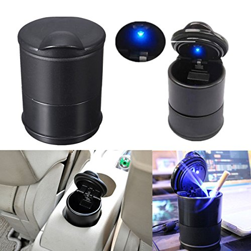 Portable Car Auto LED Light Cigarette Ashtray Holder Travel Smokeless Accessory (Electronic Cigarette Vega)