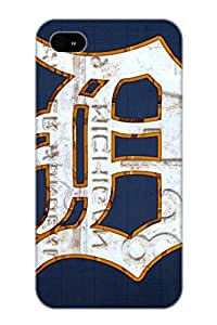 MGwiNI-4580-YLNDB Anti-scratch Case Cover Flyinghouse Protective Detroit Tigers Baseball Old English D Logo License Plate Art Case For Iphone 4/4s